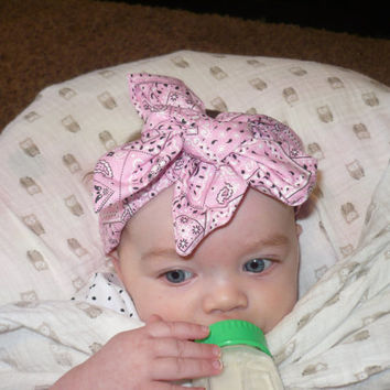 Bow, Headwrap, Baby Headwrap, Head Wrap, Baby Headband, Pink Bow, Bows, Kids Headband, Newborn Headband, Infant Headband,Children, Toddler
