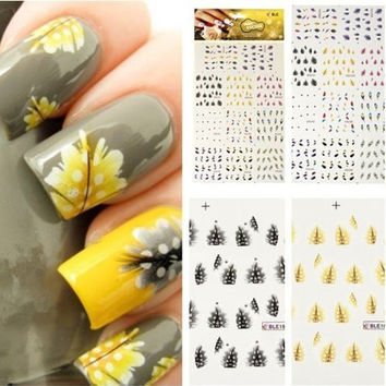 Nail Art Tips Professional Nail Decals Accessory Easy to Use Fashion Design Detail