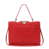Rockstud Rouge leather tote