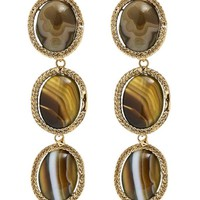 Scarabeo Green Agate Drop Earrings