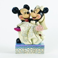 "Disney Traditions by Jim Shore Mickey and Minnie Wedding Figurine ""Congratulations"" (4033282)"