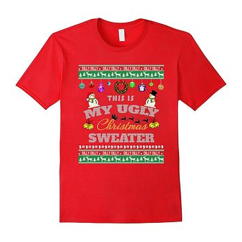 Funny Ugly Christmas Sweater with Dilly Dilly Trim T Shirt
