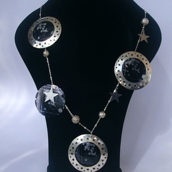 "Extravagant long necklace ""STARRY NIGHTS"""