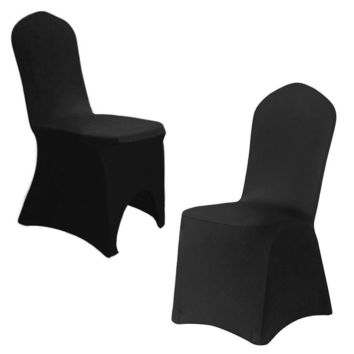 1/10/20/50/100 Black Stretch Spandex Folding Chair Covers Wedding Party Banquet