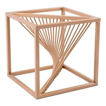 Zuo Twisted Cube Antique Brass Tabletop Decoration Home or Office