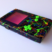 Custom Backlit Nintendo Gameboy Pocket Neon for Retro Gaming in the dark or LSDJ Chiptune