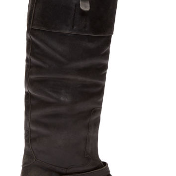 Golden Goose Black Leather Knee-high Charlye Boots