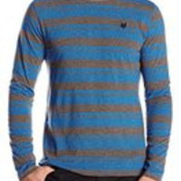 Zoo York Men'S Alpha Jersey Long Sleeve Yarn Dye Knit Shirt