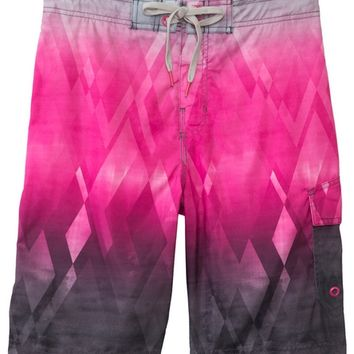 Speedo Men's Fractal Diamond E-Board Short at SwimOutlet.com