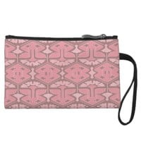 Art Deco Flair - All in Pink Wristlet Clutches