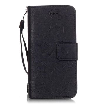Black Wallet iPhone Cases for 5 5s 5SE 6 6s 6SE 6+  7 7+