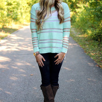 Creme De La Mint Sweater