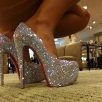 Crystal high heel platform pumps  from MBELLISH