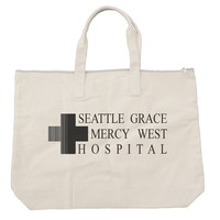 Seattle Grace Mercy West Hospital Tote bags. Black or Natural color