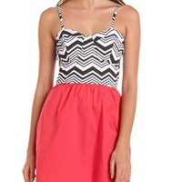 Striped Top A-Line Dress: Charlotte Russe