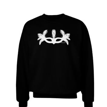 Masquerade Mask Silhouette Adult Dark Sweatshirt by TooLoud