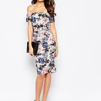 Paper Dolls Tall Bardot Print Pencil Dress