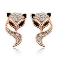 MLOVES Women's Classical Diamanted Little Fox Ear Cuffs