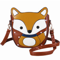 Fox Cartoon Sling Bag