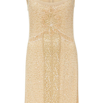 Scoop Neck Sleeveless Embroidered Dress | Moda Operandi