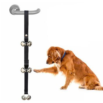 3 Colors Nylon Adjustable Dog Training Doorbell Rope 6/7 Bells Doggy Doorbells Training Pet Dog Accessories Pet Toy Supplies