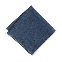 J.Crew Mens The Hill-Side Japanese Selvedge Chambray Pocket Square