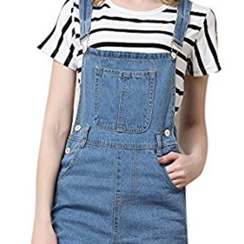 Women's Cute Denim Shorts Distressed Cowboy Jumpsuit Jeans Bid Overall Shortalls