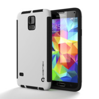 Ghostek Blitz Samsung Galaxy S5 White Case W/ Attached Screen Protector | Lifetime Warranty