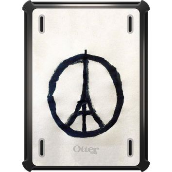 DistinctInk™ OtterBox Defender Series Case for Apple iPad - Paris Peace Symbol