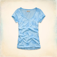 Bluebird Beach Slim V Neck T-Shirt