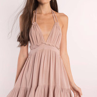 Rachel Plunging Swing Dress