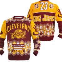CLEVELAND CAVALIERS LEBRON JAMES OFFICIAL NBA UGLY SWEATER