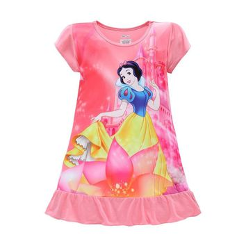 Girls Dresses Sofia Mermaid Minnie Mouse Elsa Anna Kids Pajamas Nightgowns Sleepwear Princess Clothes Set 4 5 6 7 8 9 Years