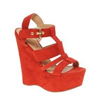River Island | River Island Erika Cut Out Platform Wedges at ASOS