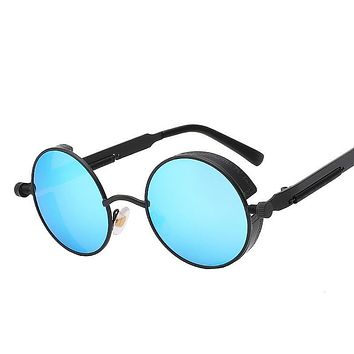 Coating Mirrored Round Sun glasses