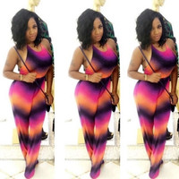 Multicolor Gradient Jumpsuits