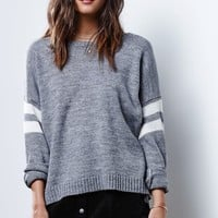 Glamorous Standard Stripe Pullover Sweater - Womens Sweater