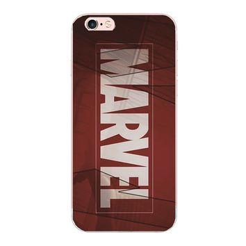 Marvel logo design hard cover For iphone 5 5S SE 5C 4 4S 7 6S 6 plus phone cases For Samsung Galaxy S4 S5 S3 S7 S6 edge G9250