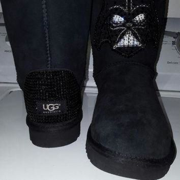 ICIK8X2 Womens Swarovski Crystal Star Wars 'Darth Vader' Uggs