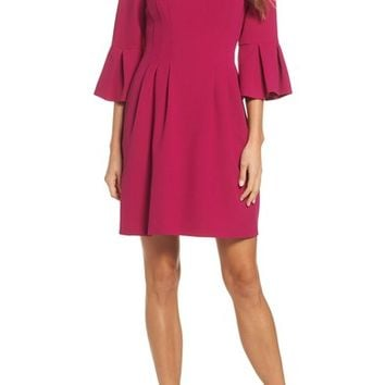 Eliza J Bell Sleeve Fit & Flare Dress | Nordstrom