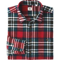MEN FLANNEL CHECKED LONG SLEEVE SHIRT | UNIQLO