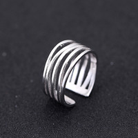 New Arrivals 925 Sterling Silver Multilayer Hollow Rings For Women Adjustable Size Finger Ring Fashion sterling-silver-jewelry