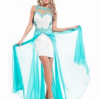 Sabrina Lace Chiffon Hi-Low Prom Dress By Rachel Allan Princess 2874