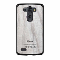 Apple Logo On White Wood Colorful LG G3 Case