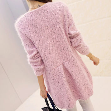 2016 New Spring Autumn Long Cardigan Women Sweater Casual Long Sleeve Pocket Women Loose Sweaters Coat vestidos Cardigans YC175