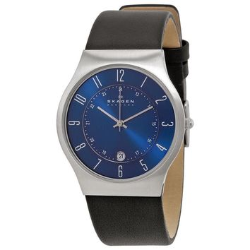 Skagen Denmark Steel Perfect Blue Dial Mens Watch 233XXLSLN