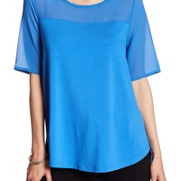 Vince Camuto | Mix Media Blouse | Nordstrom Rack