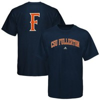 adidas Cal State Fullerton Titans Navy Blue Relentless T-shirt (XXXX-Large)