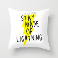 Stay Made of Lightning Throw Pillow by Dan Ron Eli