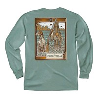 Dog with Kill Long Sleeve Tee in Light Green by Fripp & Folly